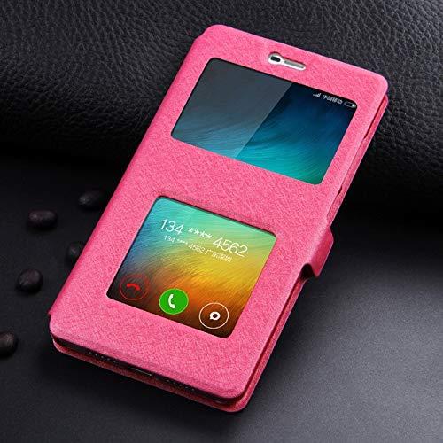 RZL Teléfono móvil Fundas Para Xiaomi redmi 5 Plus, de lujo Frente Ventana inteligente de llamadas de visualización de pantalla de cuero del caso de Filp Para Xiaomi redmi 3S 4X 4A 5A 6 7 Pro Nota 7 6