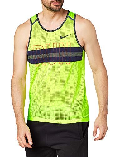Nike - Sudadera para hombre, color amarillo neón, tamaño large
