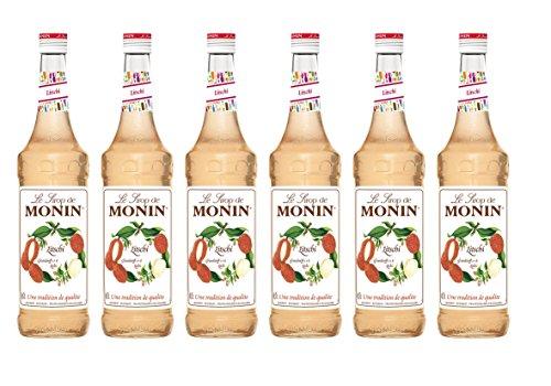 Monin Sirup Litschi, 0,7L 6er Pack