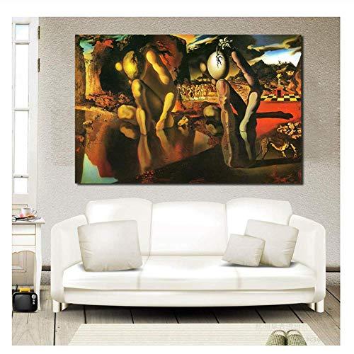XuFan la metamorfosis de Narciso Dali Pinturas de Pared para Sala de Estar Pinturas al óleo sobre Lienzo Imágenes de pared-20X28 Pulgadas Sin Marco
