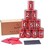 Dosenschießen - Tin Can Gasse Spiel - Werfen Kinder- Echtmetall Blechdosen - Inklusive Bean Bags - Jaques von London