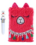 HH Family Diary for Girls Writing Journal Notebook with Matching Multicolored Pen Set (Llama H)