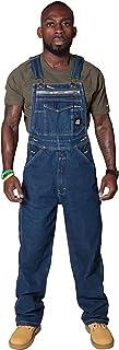 X-xyA Men's Denim Bib Overalls Dungarees Work Jeans Jumpsuits with Zipper Pockets,5XL