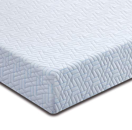 Nytex 7 Zone Memory Foam Mattress, Medium-Firm, Reactive Fresh Cover, Made in The UK, 10 Year Guarantee, (Single 90x190cm)