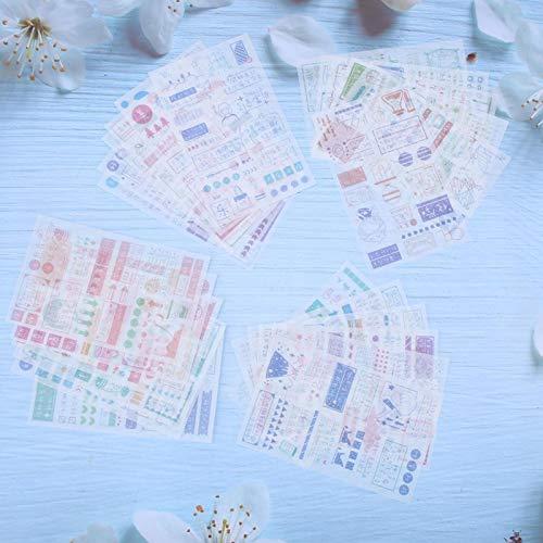 24PCS Washi Paper Stickers DIY Hand Account Decoration 4Type para maletas Marcos...