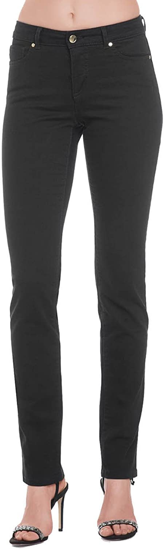 Conte elegant Women's Classic Fit Straight Jeans, Black