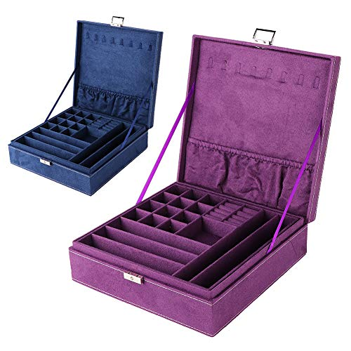 Schmuck Aufbewahrungsbox Doppelschicht Kunstleder Für Aufbewahren & Ordnen Multifunktionale Schmuckschatulle Ringe Halskette Ring Ohrringe K?Rbe & Beh?Lter