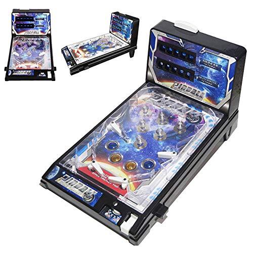 QQAA Elektronisches Tisch-Flipper-Spiel - Flipper-Tischspielzeug Für Kinder Eltern-Kind-Puzzle-Flipper - Retro-Spielhalle Mit Lichtern Und Geräuschen