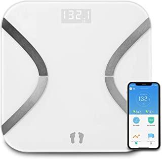 Bluetooth Body Fat Scale - Wireless Digital Bathroom Weight Scale Monitor Body Composition Analyzer with Smart Phone APP for Body Weight, Fat, BMR, BMI, Muscle Mass