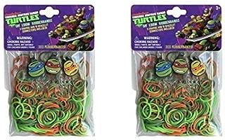 Teenage Mutant Ninja Turtles 300 Count DIY Loom Rubberbands,12 Connectors & 3 Turtle Charms X 2 Pack
