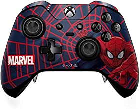 Skinit Decal Gaming Skin for Xbox One Elite Controller - Officially Licensed Marvel/Disney Spider-Man Crawls Design