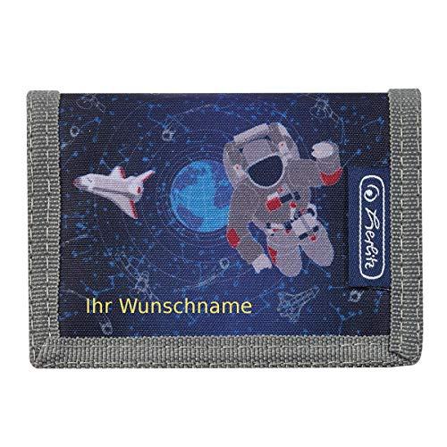 """Herlitz Kinder Geldbörse mit Gravur / Geldbeutel / """"Space - Astronaut"""""""
