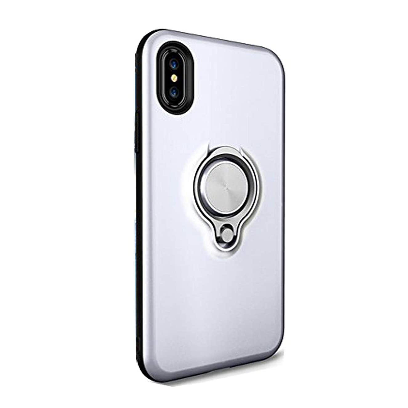 Case Compatible With iPhone X Case slim with 360 Rotating Ring Grip Holder Stand Car bracket phone case for Apple iPhone 10
