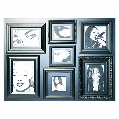 Invotis Cadre Photo Style rétro Noir - 61 x 45 cm Noir-Taille XL