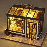DorisAA-CET Actividad de Juego Juguetes Creative Handmade DIY Cabina Modelo World Vintage Shops Seri...