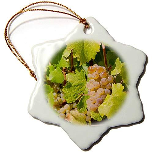 California, Napa Valley, Sonoma County, White Grapes On Vine Snowflake Ornament Christmas Ornament Keepsake