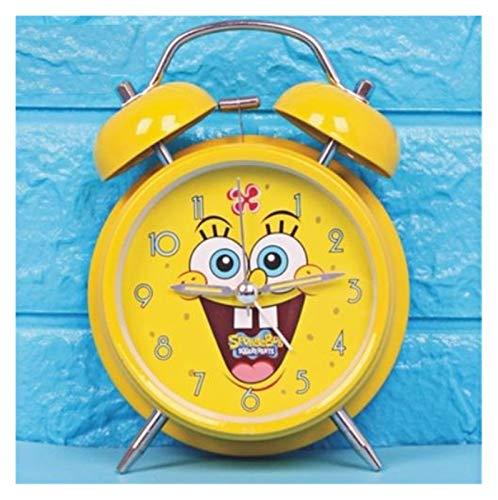 JSJJAYU Despertador para niños Creative America Capitán Batman Alarm Reloj de Alarma de 4 Pulgadas Noche Luz Mute Reloj de Alarma Super Tono Grande Historieta (Color : Gray)