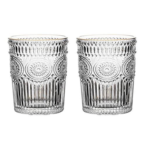 YDZB 2 vasos de whisky sin plomo, cristal transparente, perfecto para vino,...