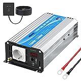 GIANDEL 1200W Inversor de Corriente de Onda Sinusoidal Pura Convertidor DC 24V a AC 220V 230V con Pantalla LED & Toma de AC & Puertos USB para Barco,Coche