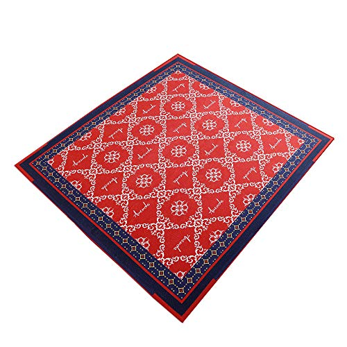 Aucuda Drum Rug Drum Mat Drum Carpet,Tightly Woven Fabric with Non-Slip Grip Bottom,6ftX6.6ft,Starry Sky Red