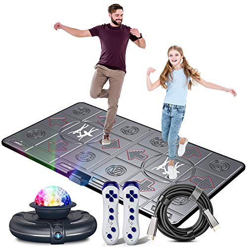 Dance Mat for Kids and Adults,Musical electronic dance mat, Double User dance floor mat with Wireless Handle, HD Camera Game Multi-Function Host, Dance Mat Game, HDMI Interface for TV