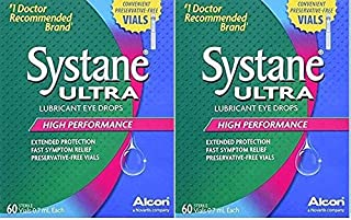 Systane Ultra Lubricant Eye Drops, 0.7-mL Vials, 60 Count each Box ( Pack of 2) - (120 Vials Total)
