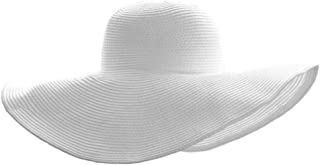 Women Floppy Derby Hat Wide Large Brim Beach Straw Sun Cap