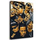 Yzy Rap Poster Old School Rap Legends Hip Hop Musik Poster