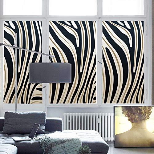 KUNHAN raamsticker raamfolie op maat gebrandschilderd statisch klemraamfolie mat ondoorzichtig privacyglas sticker huisdecoratie digitale afdruk