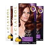 Clairol Age Defy Permanent Hair Dye, 5R Medium Auburn Hair Color, 3 Count