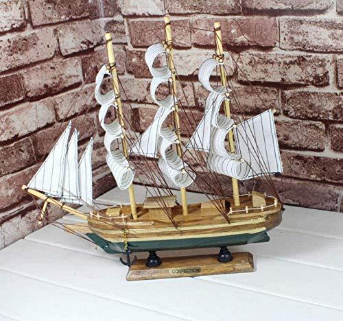 Modell Schiff Statue Figuren Dekorationen Stil Modell Einzelsegel Segel Home Handmade Boat Modell Für die Dekoration