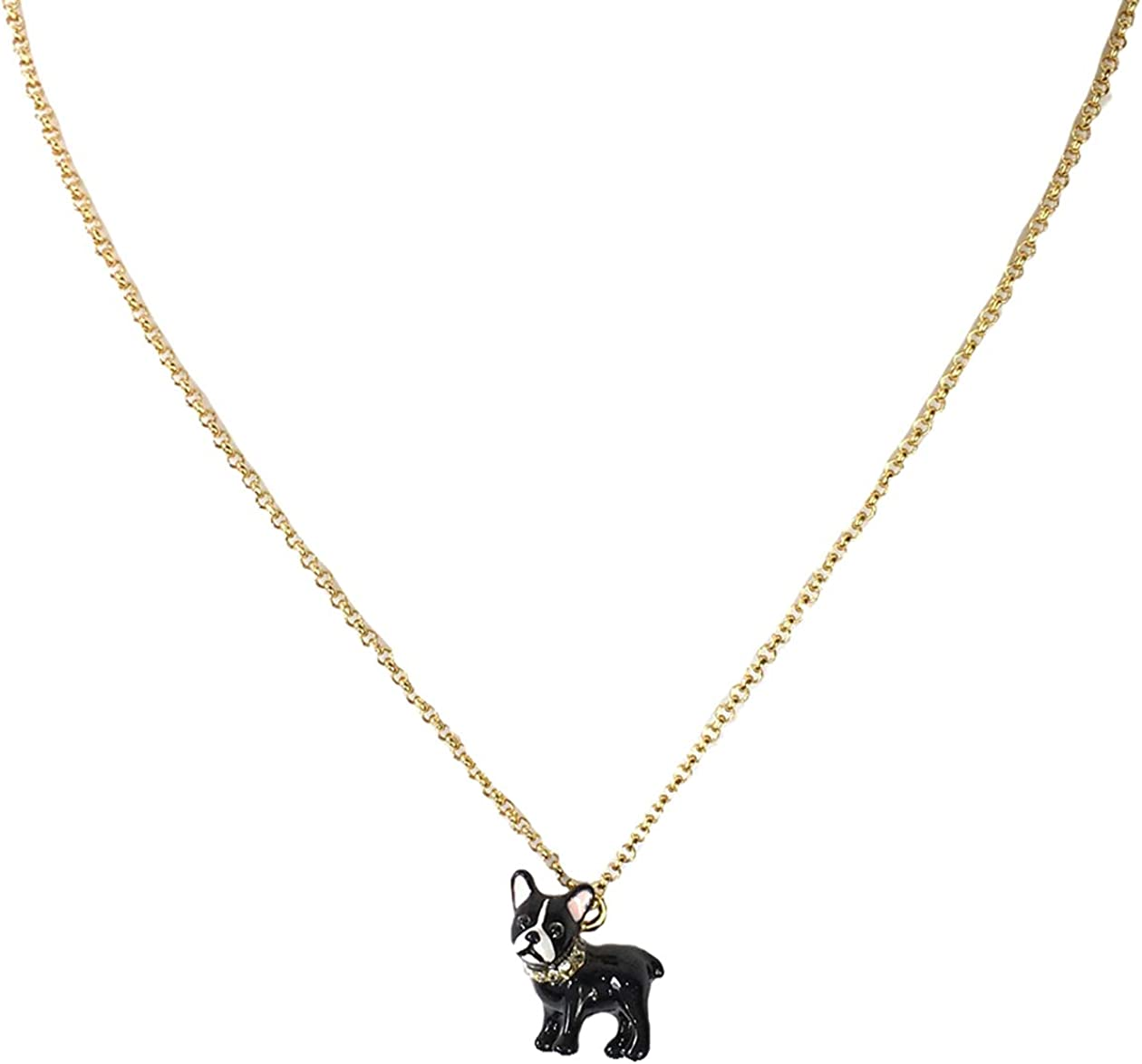 Kate Spade Ma Cherie Antoine Pendant French Dog Bargain Classic sale Necklace Bull