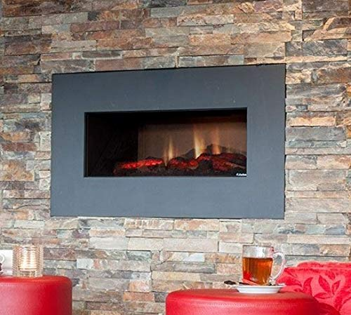 FABER Opti-v Single Indoor Built-in Fireplace Electric Black – Kamin (760 mm, 350 mm, 450 mm, 26 kg, 850 mm, 450 mm)