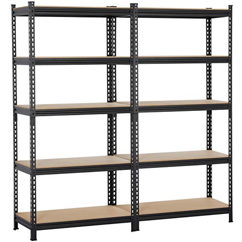 6 Tier Adjustable Wire Shelving Unit w/Casters, NSF Commercial Metal Storage Garage Shelves, 4800 LBS Capacity, Heavy Duty Standing Rack for Restaurant Pantry Kitchen (76