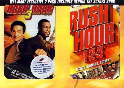 Rush Hour 3 (Widescreen and Full Screen) with Rush Hour 1-2-3 Behind The Scenes Book (Boxset)