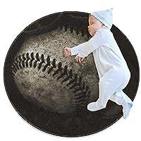 エリアラグ軽量 アメリカン野球 フロアマットソフトカーペット直径27.6インチホームリビングダイニングルームベッドルーム