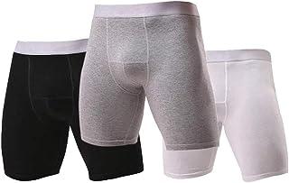 Kueh Men's Boxer Shorts Cotton Comfort Trunks Soft Breathable Mens Underwear Boxer Briefs(3 PCS)