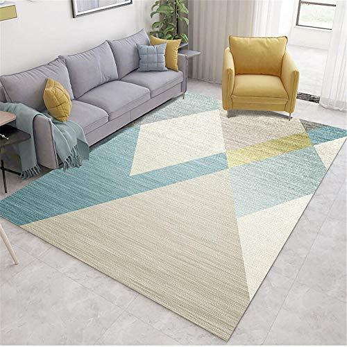 Kunsen sofá Cama Moderno alfombras habitacion Sala de Estar Alfombra Dormitorio Estudio decoración Rectangular Antideslizante y Anti-caída Alfombra recibidor 160X200CM 5ft 3' X6ft 6.7'