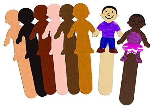 Skin Tone Kids Craft Sticks