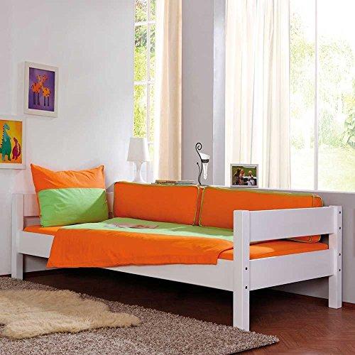 Kinderbett mit Gästebett Weiß Bettkasten Nein Pharao24 - 2