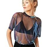 Luckycat Camisetas Transparentes De Mujer Camisetas Mujer Ma
