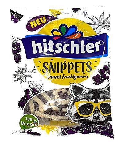 Hitschler Snippets 1 x 125g Veganes Fruchtgummi Mit Cassis - Vanille Geschmack.
