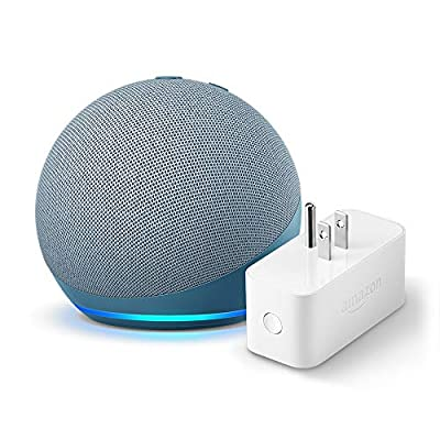 All-new Echo Dot (4th Gen) + Amazon Smart Plug | Twilight Blue
