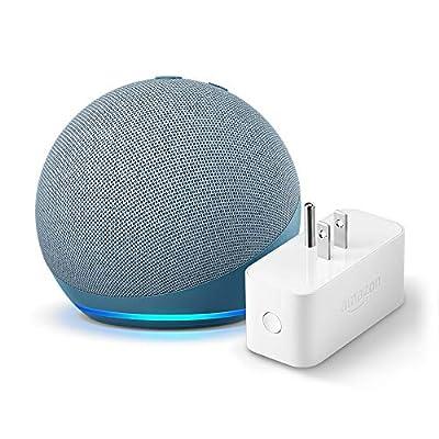 All-new Echo Dot (4th Gen) + Amazon Smart Plug | Twilight Blue