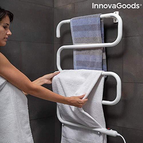 InnovaGoods IG815325 Toallero Eléctrico de Pie o Pared S-Dry (5 Barras) 100W, 100 W, 220 V