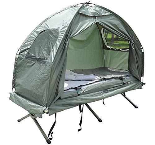 Bc-elec 578-008 Feldbett mit Zelt, Schlafsack und Luftmatratze