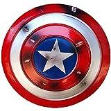 COKECO Avengers- Escudo Capitán América Metal De Marvel Prop 1: 1 Serie Avengers Legends Decoración De Barra De Accesorios De Películas De Juegos De rol para Adultos/Niños 18.7in