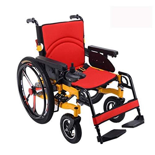 Pieghevole Elettrico Pieghevole per sedie a rotelle elettriche per sedie a rotelle Powerchair Leggero Pedale e bracciolo Rimovibili Possono Essere sollevati Batteria al Piombo 12A