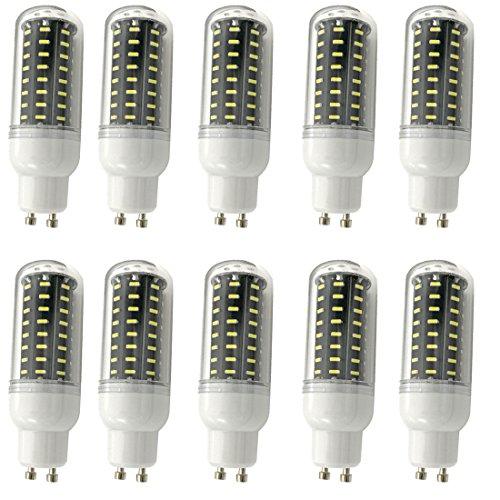 Aoxdi 10x GU10 LED Mais Licht 7W, Kaltweiß, 72 SMD 4014 Gluehbirne Energiesparenden Leuchtmittel GU10 LED Lampen 7W, AC220-240V