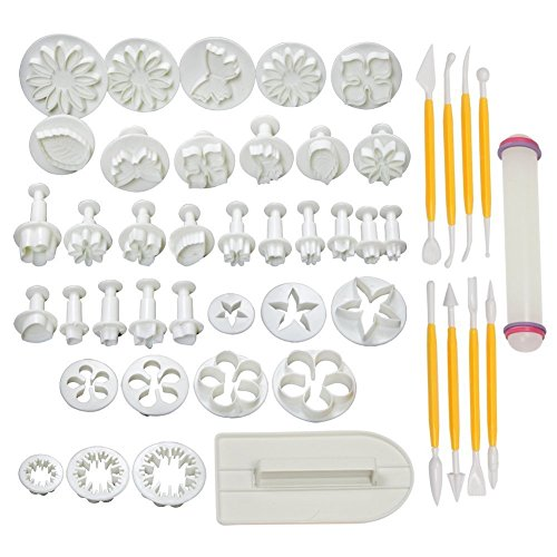 Cake Tools 14 sets (46pcs) Flower Fondant Cake Sugarcraft Decorating Kit